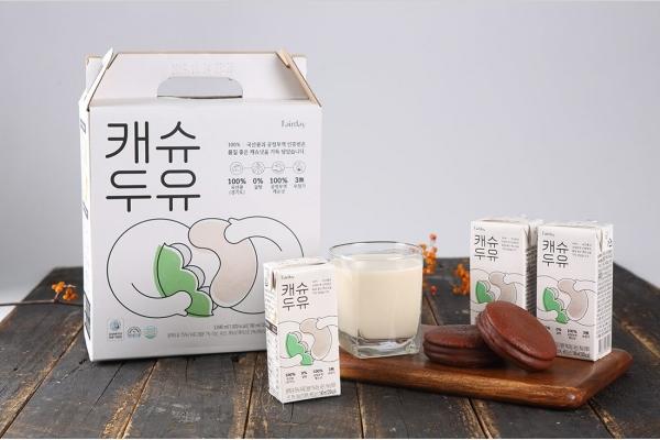 경기도가 베트남 캐슈넛과 도내 생산된 콩을 결합해 만든 로컬-페어트레이드 제품 '캐슈두유'./사진=경기도